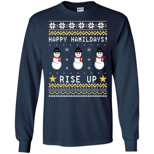 Happy Hamildays rise up Christmas sweater shirt - image 4140 510x510
