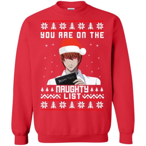 Death note You are on the naughty list Christmas sweater shirt - image 4154 510x510