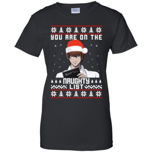 Death note You are on the naughty list Christmas sweater shirt - image 4157 510x510