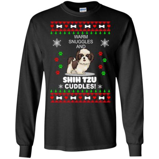 Warm snuggles and corgi Shih Tzu Christmas sweater shirt - image 4179 510x510