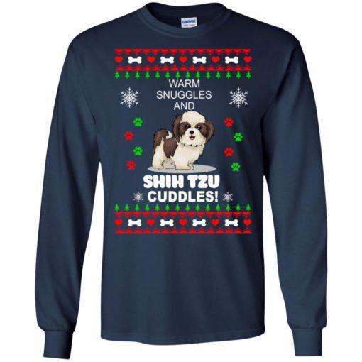 Warm snuggles and corgi Shih Tzu Christmas sweater shirt - image 4180 510x510