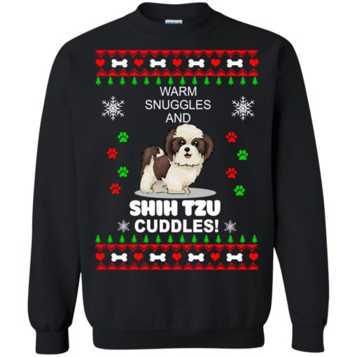 Warm snuggles and corgi Shih Tzu Christmas sweater shirt - image 4182 510x510