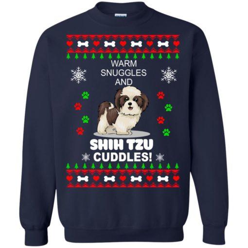 Warm snuggles and corgi Shih Tzu Christmas sweater shirt - image 4183 510x510