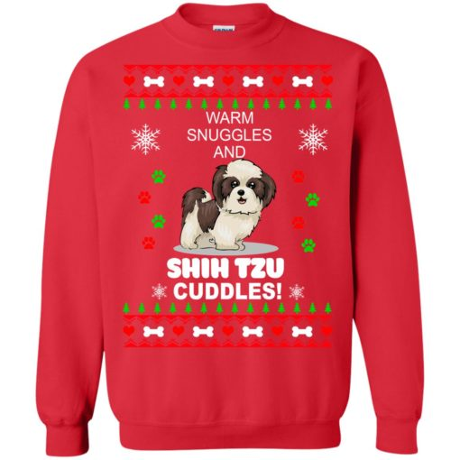 Warm snuggles and corgi Shih Tzu Christmas sweater shirt - image 4184 510x510