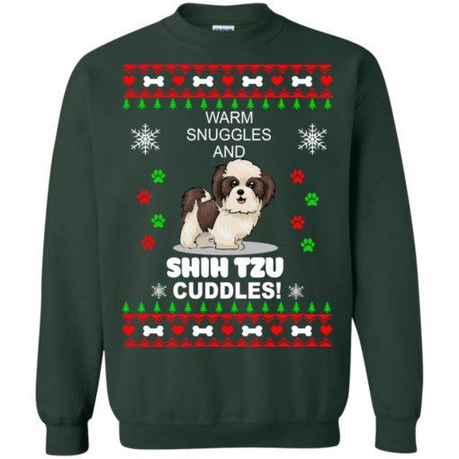 Warm snuggles and corgi Shih Tzu Christmas sweater shirt - image 4185 510x510