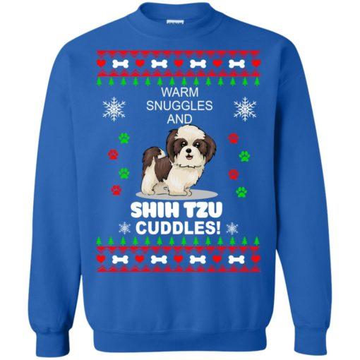 Warm snuggles and corgi Shih Tzu Christmas sweater shirt - image 4186 510x510