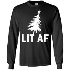LIT AF Funny Christmas Sweater shirt - image 4209 247x247