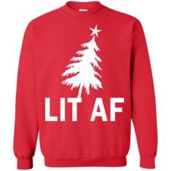 LIT AF Funny Christmas Sweater shirt - image 4214 247x247