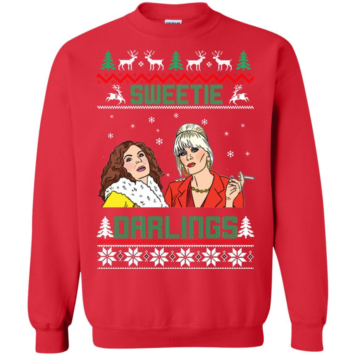 Patsy and edina Sweetie Darling Christmas sweatshirt