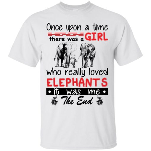 Once upon a time there was a girl who really loved Elephants shirt - image 4379 510x510