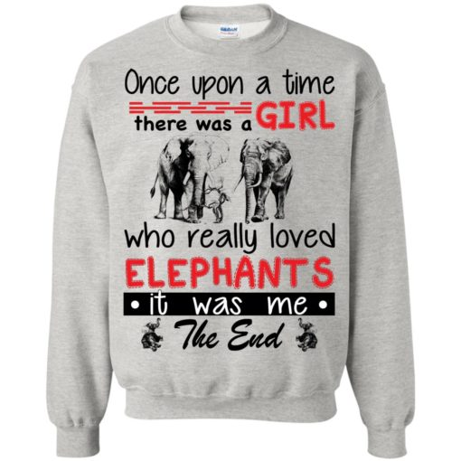 Once upon a time there was a girl who really loved Elephants shirt - image 4384 510x510