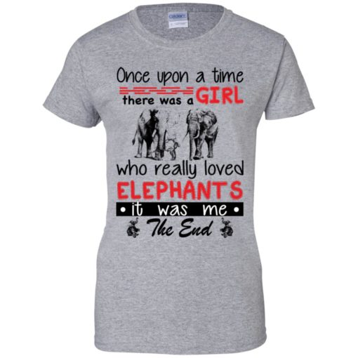 Once upon a time there was a girl who really loved Elephants shirt - image 4386 510x510