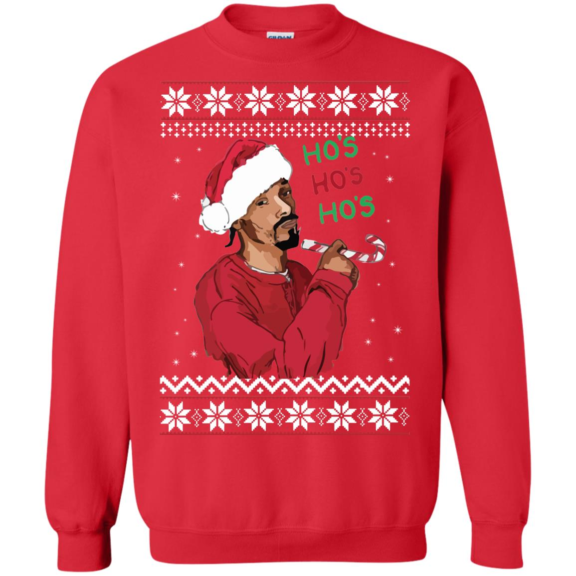 Snoop Dogg Hos Christmas Sweater Shirt Hoodie Long Sleeve