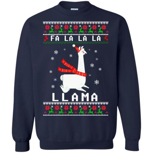 Fa La La La Llama Christmas sweater shirt - image 4533 510x510