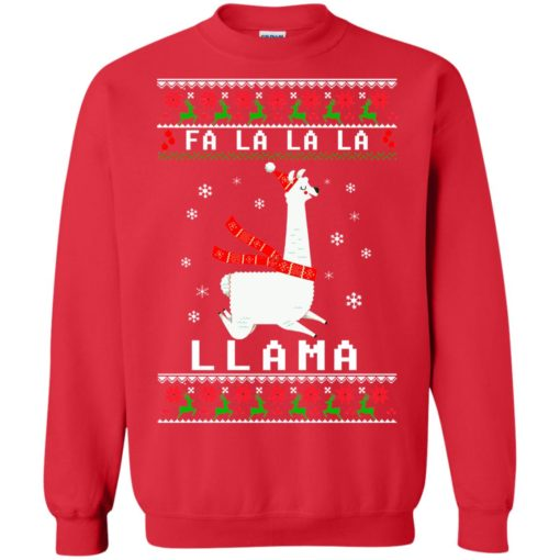 Fa La La La Llama Christmas sweater shirt - image 4534 510x510