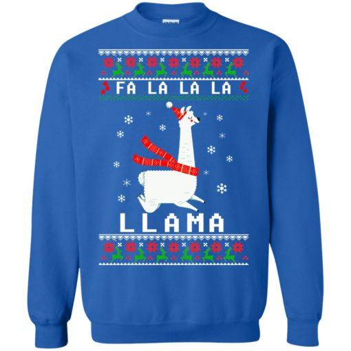 Fa La La La Llama Christmas sweater shirt - image 4536 510x510