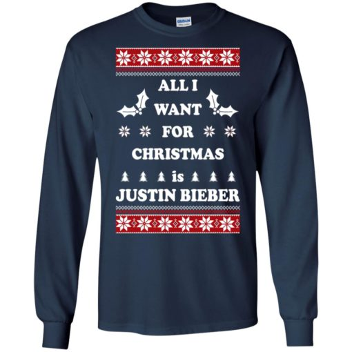 All I want for Christmas is Justin Bieber sweatshirt shirt - image 4800 510x510