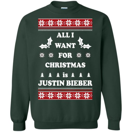 All I want for Christmas is Justin Bieber sweatshirt shirt - image 4805 510x510
