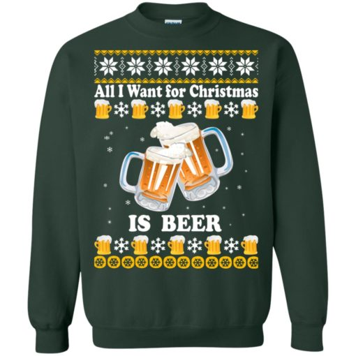 All I want for Christmas is beer sweater shirt - image 4875 510x510
