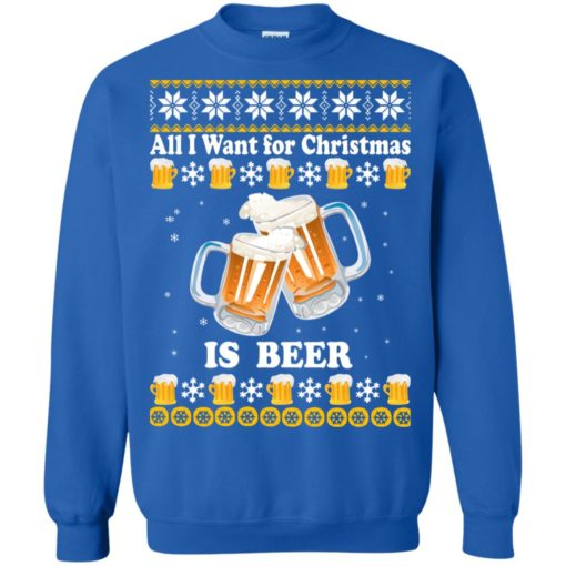 All I want for Christmas is beer sweater shirt - image 4876 510x510