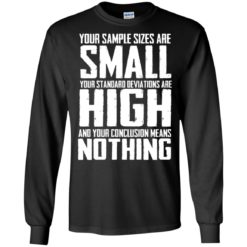 Your Sample sizes are small your Standard deviations are shirt - image 5021 247x247