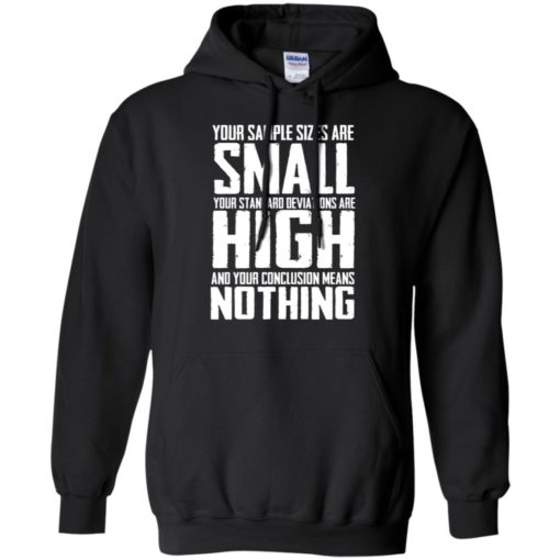 Your Sample sizes are small your Standard deviations are shirt - image 5023 510x510