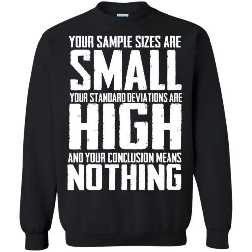 Your Sample sizes are small your Standard deviations are shirt - image 5024 510x510