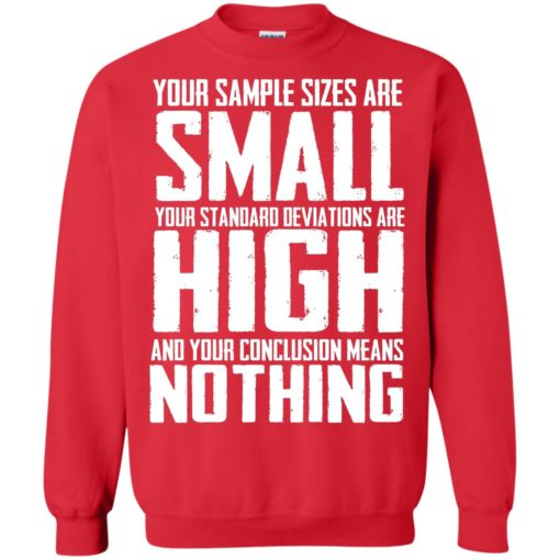 Your Sample sizes are small your Standard deviations are shirt - image 5026 510x510