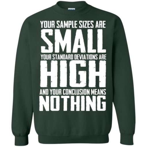 Your Sample sizes are small your Standard deviations are shirt - image 5027 510x510