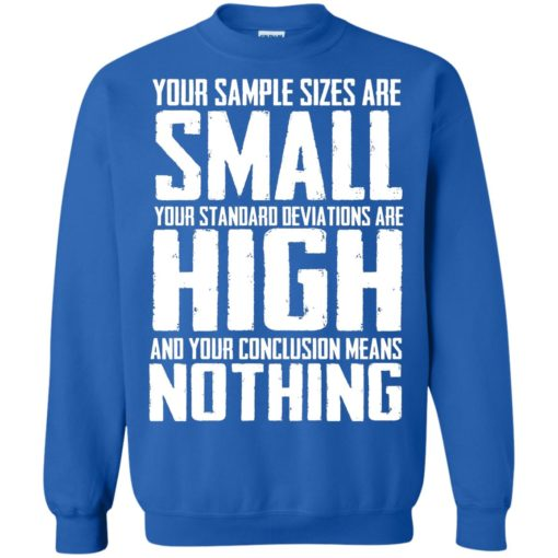 Your Sample sizes are small your Standard deviations are shirt - image 5028 510x510