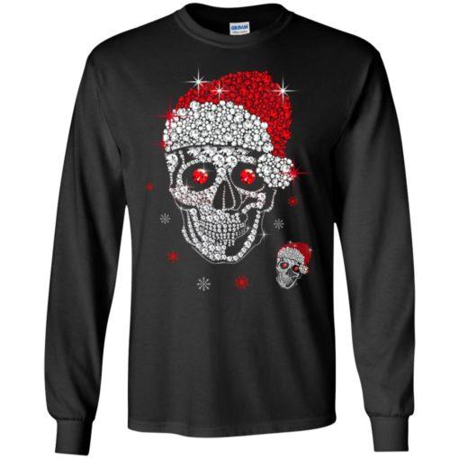 Santa Hat Skull Diamond Christmas sweatshirt shirt - image 5261 510x510