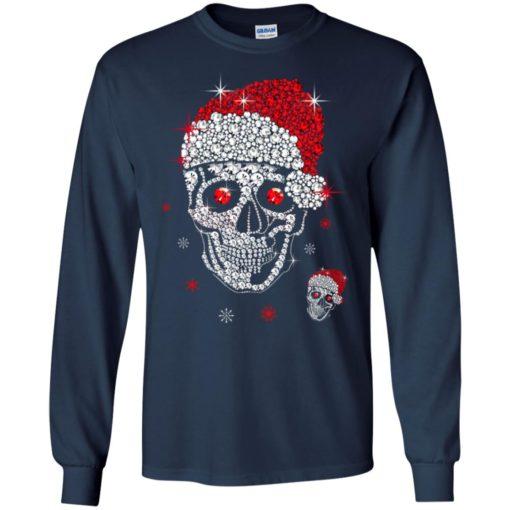 Santa Hat Skull Diamond Christmas sweatshirt shirt - image 5262 510x510