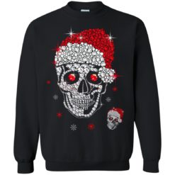 Santa Hat Skull Diamond Christmas sweatshirt shirt - image 5264 247x247