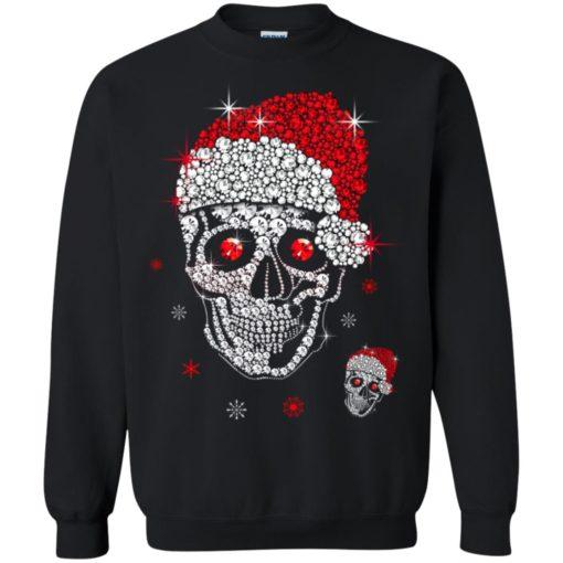 Santa Hat Skull Diamond Christmas sweatshirt shirt - image 5264 510x510