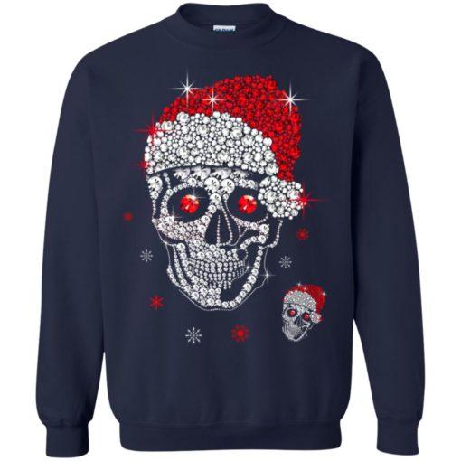 Santa Hat Skull Diamond Christmas sweatshirt shirt - image 5265 510x510