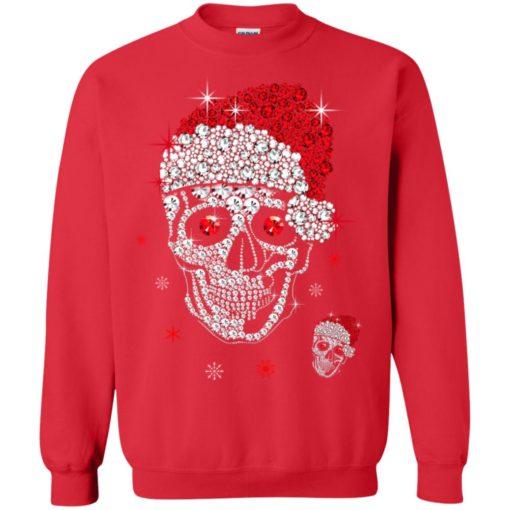 Santa Hat Skull Diamond Christmas sweatshirt shirt - image 5266 510x510