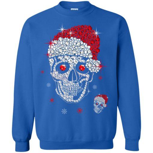 Santa Hat Skull Diamond Christmas sweatshirt shirt - image 5268 510x510