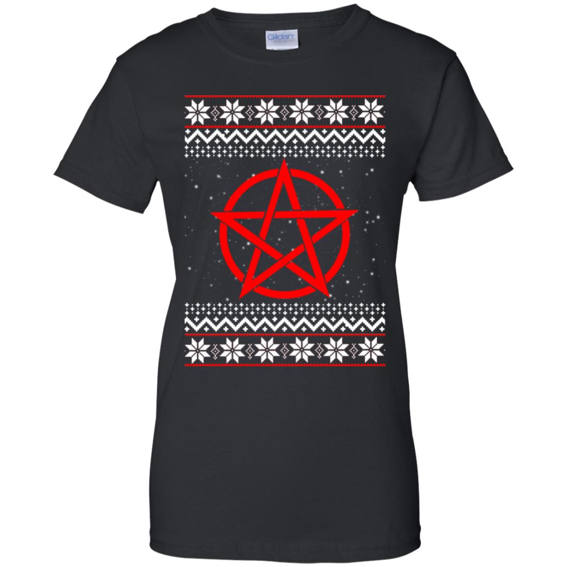 Satanic Christmas Sweater.Satanic Pentagram Ugly Christmas Sweater