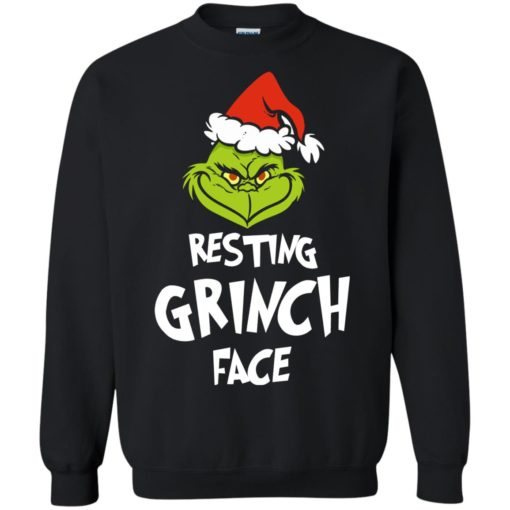 Resting Grinch Face Mr Grinch Christmas sweater shirt - image 5384 510x510