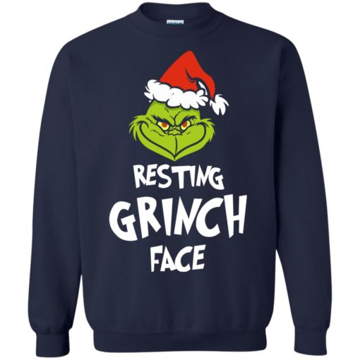 Resting Grinch Face Mr Grinch Christmas sweater shirt - image 5385 510x510