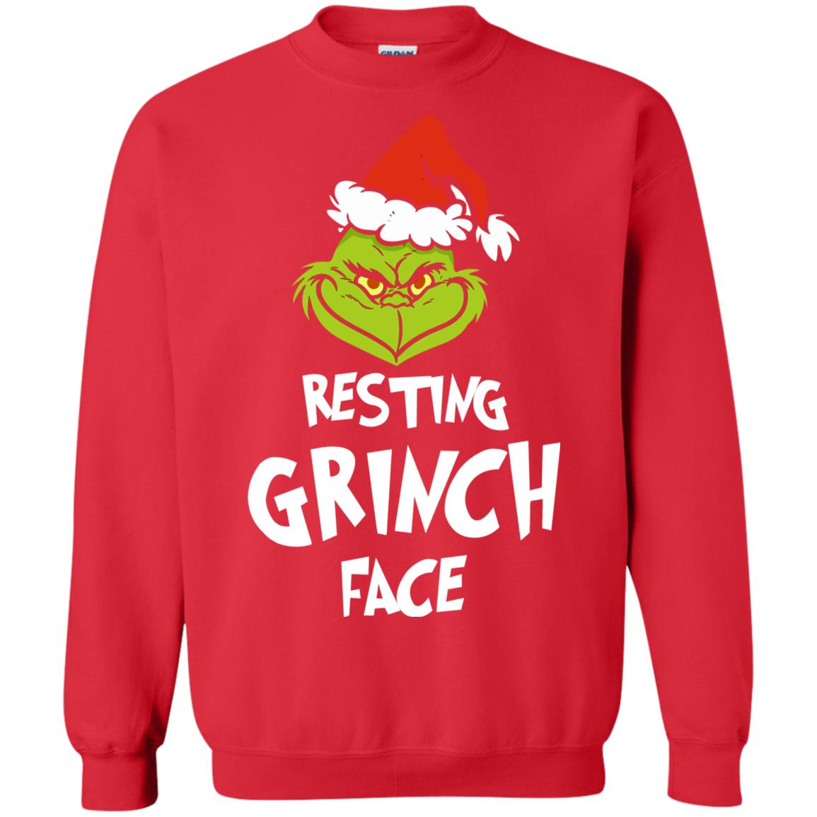 The Grinch Christmas Sweater.Resting Grinch Face Mr Grinch Christmas Sweater