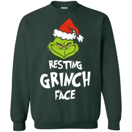 Resting Grinch Face Mr Grinch Christmas sweater shirt - image 5387 510x510