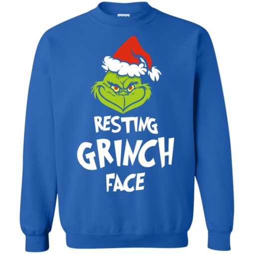 Resting Grinch Face Mr Grinch Christmas sweater shirt - image 5388 510x510