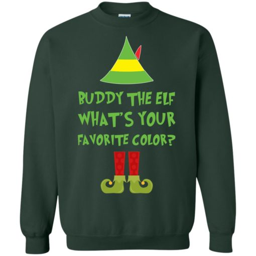 Buddy The Elf, What's Your Favorite Color Christmas sweatshirt shirt - image 5427 510x510
