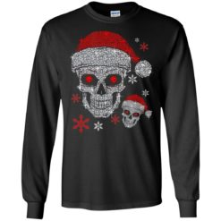 Santa hat skull Diamond Christmas ugly sweatshirt shirt - image 5511 247x247