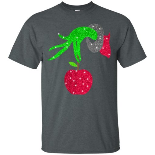 Grinch hand holding Apple shirt - image 5719 510x510