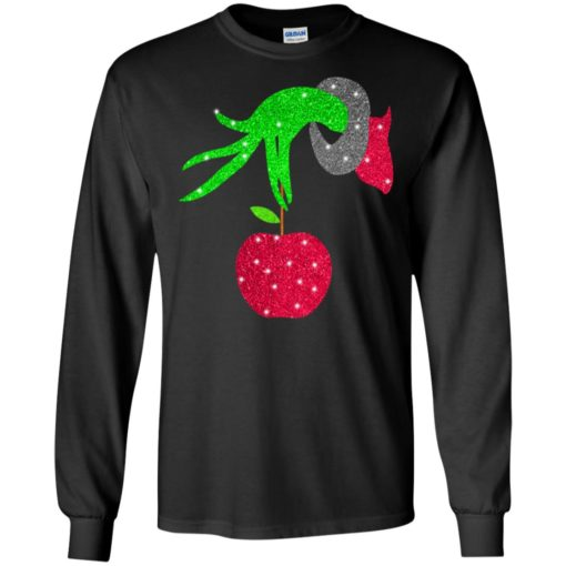 Grinch hand holding Apple shirt - image 5720 510x510