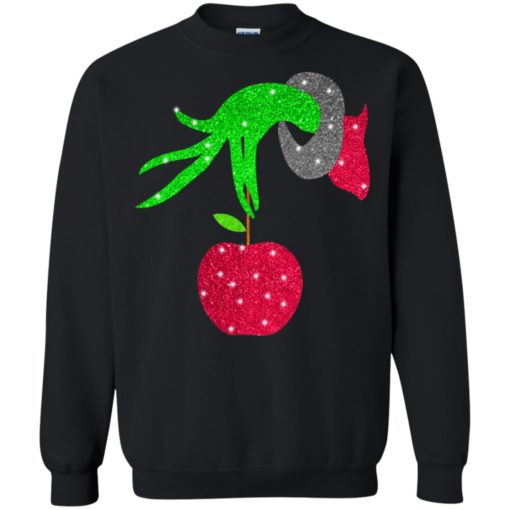 Grinch hand holding Apple shirt - image 5722 510x510