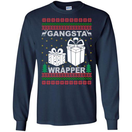 Gangsta wrapper Christmas sweatshirt shirt - image 5956 510x510