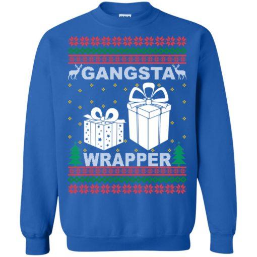 Gangsta wrapper Christmas sweatshirt shirt - image 5962 510x510